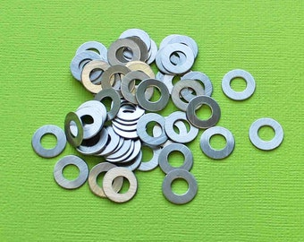 20 Aluminum Stamping Tags Round Donut Washers Scales  - MT370