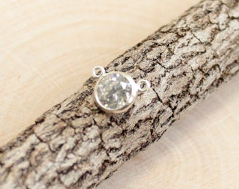 Sterling Silver CZ Link... 1 Piece... 9mm Connector HBS578CZ