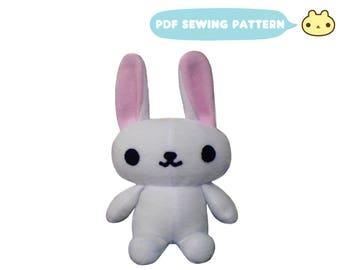 Chibi Plush Sewing Bunny Pattern, Stuffed Bunny, Rabbit Sewing Pattern, Bunny Rabbit Sewing, Stuffed Bunny Pattern, Bunny Pattern, Bunny