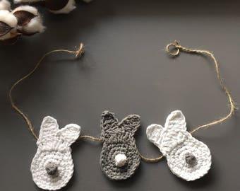 Mini Garland / Easter Garland / Bunny Garland / Spring Garland / Bunny Bunting / Easter Bunting