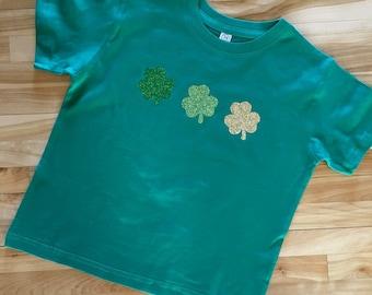 St. Patrick's Day Shirt  |  Shamrocks Glitter Green Shirt  |  St. Patty's Day Shirt |  Shamrock Shirt |  Adult, Youth, Toddler, Infant
