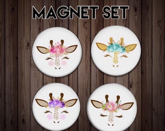 Fridge magnet   kitchen magnet   dinner gift   giraffe magnet   friend gift    host gift   party gift   giraffe gift