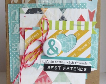 Best Friends - {greeting card and envelope}
