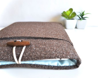 "Surface Book Case, Surface Pro 4 Case, 11""-15"" Custom Sized Surface Laptop Sleeve, Chromebook Sleeve, Padded Wool Blend Laptop Case"