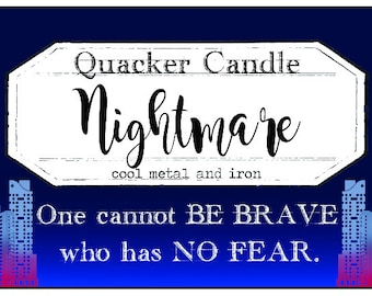 Nightmare - -soy candle inspired by book, soy candle, bookish candles, gift, book lover, book candles, renegades,  meyer, cosy, book