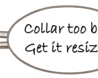 Resize Dog Collar, Shorten any Caninedesign collar
