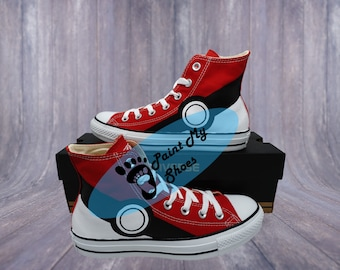 Anime shoes, converse, hand painted shoes, game shoes, free shipping in the US
