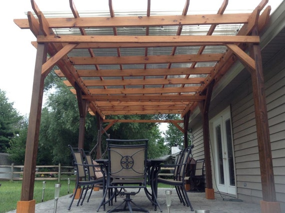 Covered Pergola Plans 12x20' Build DIY Outside Patio Wood Design Covered  Deck - Covered Pergola Plans 12x20' Build DIY Outside Patio Wood