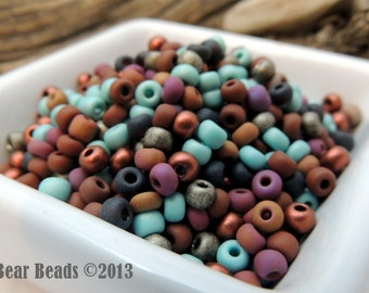 Taos Pueblo Mix size 6 Czech glass Seed beads 50 grams Loose