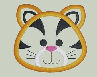 Baby Tiger Applique Design