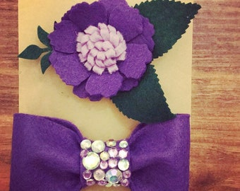 Flet bow and flower