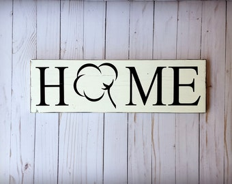 Cotton Home Sign, Cotton Boll Sign, Farmhouse Decor, Cotton Sign, Wooden Home Sign, Farmhouse Sign, Cotton Boll decor, Cotton decor