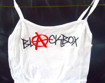 Blackbox-Girls Spaghetti Tank Top White T Shirt