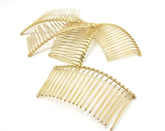 10 Pieces 20 Teeth GOLD Hair Comb|Wire Comb|Hair Comb Supplies|Hair Accessories|Head Supplies|GOLD Metal Comb