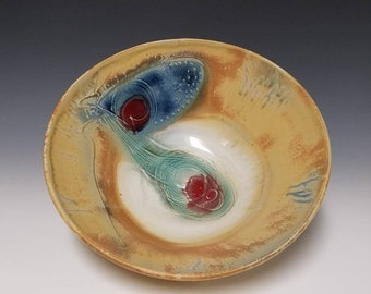 Handmade, wheel thrown ceramic serving bowl #1194