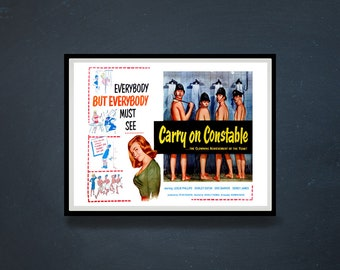 Reprint of the Vintage British Comedy Movie Poster - Carry On Constable