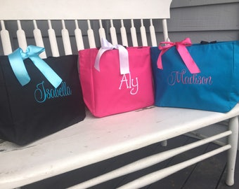 Monogrammed Tote Bag Personalized - Children Baby Girl Dance Birthday Party Favor Gift, personalized tote bag