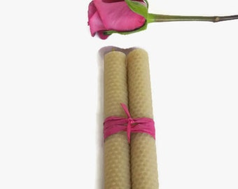 Handrolled Honeycomb Candles, Beeswax Taper Candles,  Beeswax Candles,Taper Candles, Prayer Candles, Hand Rolled Beeswax Candles,