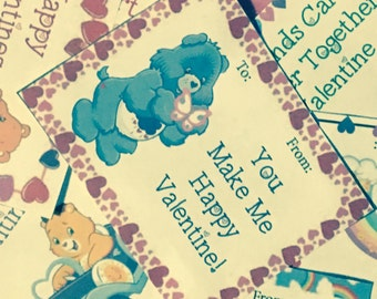 Caring Bears Printable Valentines