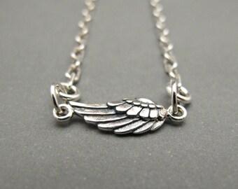 Womens Anklet - Womens Ankle Bracelet - Angel Wing Jewelry - Angel Wing Bracelet - Wing Anklet - Sterling Silver - Minimalist Jewelry - Gift