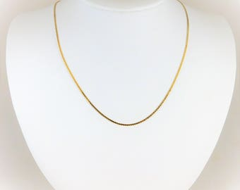 16 inch/1.3mm 14k Yellow Gold S Link Chain