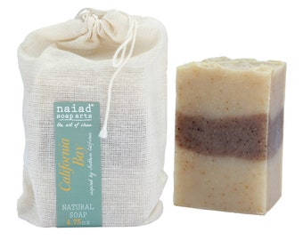 Cedarwood Bay Shea Butter Soap - All Natural Handmade Soap - Vegan and Cruelty Free - Sustainable Palm - Great for Men