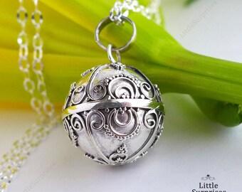 Sunshine 16mm Harmony Ball Mexican Bola Pendant Maternity Necklace LS86