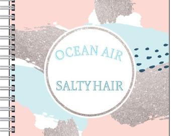 Inspired by Cornwall - Ocean air, salty hair notebook