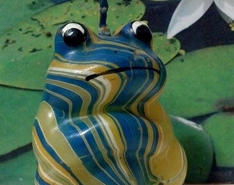 Collectible Wax Frog Candle / Collectible Frog  / Poison Dart Frog Figural / Wildlife in Wax / Colorful Frog / Tree Toad  / F382