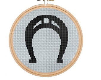 Horseshoe  Counted Cross Stitch Pattern. Pattern. Sign PDF Instant DownloadHome decor Art. Cross Stitch Pattern