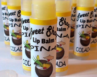 Summer Lip Balm - Pina Colada - Banana Coconut Pineapple
