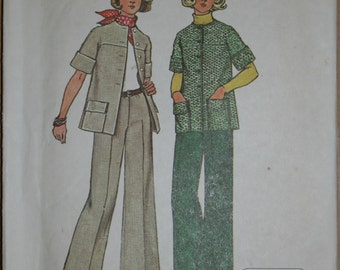 Vintage Simplicity 6529 Misses unlined Jiffy Jacket and Pants Size 12