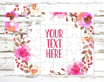 Create Your Own Puzzle - Pregnancy Announcement - Custom Puzzle - Personalized Puzzle - Announcement Ideas - Wedding Announcement - CYOP0129
