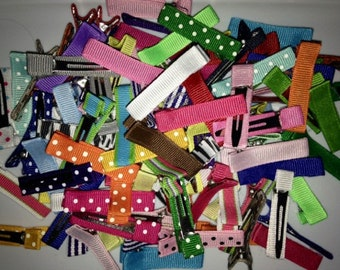 Alligator Clips, Mixed Solids and Print Clips, 50 Partially Lined Clips, 50 Alligator Clips