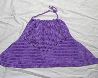 Crochet Lilac Halter Top size M