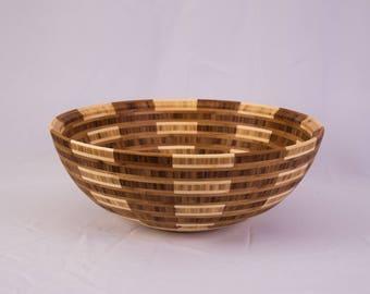 "15"" x 5.75"" Segmented Bamboo Bowl ""Illumine"""
