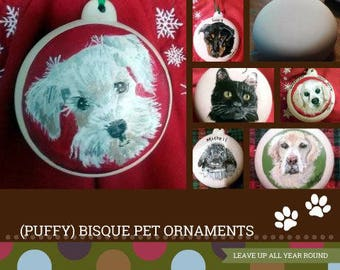 pet ornament,bisque ornament,pet Christmas ornament, pet portrait ornament,green,red,personal pet ornament,pet lover gift,pet gift