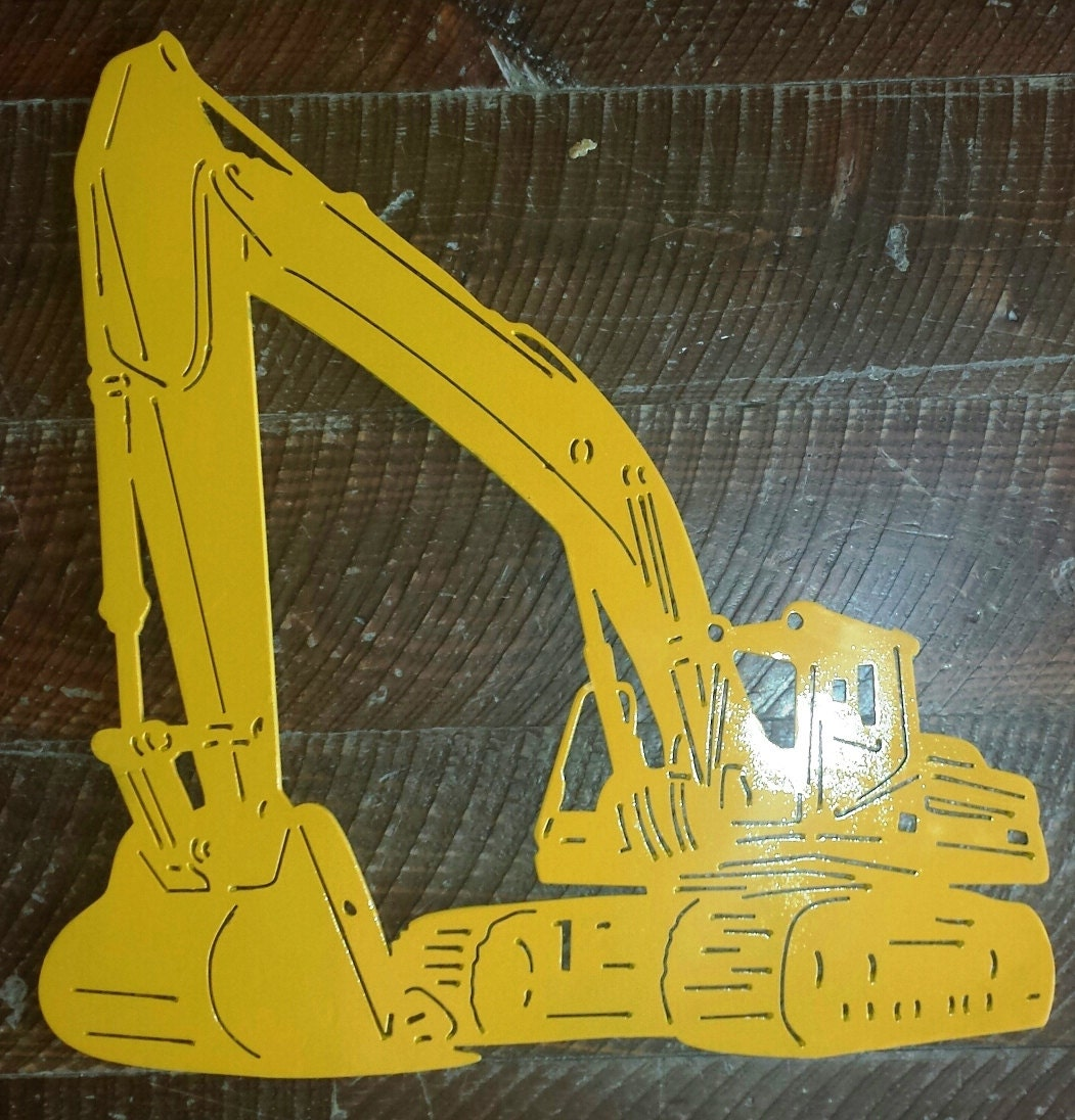 Custom Metal Excavator Tracked Back Hoe Wall Art Wall Hanging
