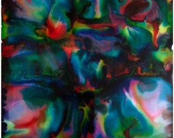 """Original Alcohol Ink Abstract: """"Centered In Gravity"""" (22"""" x 22"""")"""