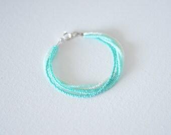 Ombre turquoise bracelet, seed bead bracelet, turquoise bracelet, ombre bracelet, seed bead bracelet,teal bracelet, blue bracelet,bridesmaid