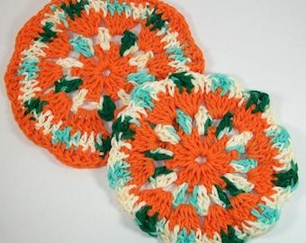 Hot Pads / Potholders / Mug Rugs / Crocheted Coasters / Mug Holder / Trivet Set / Housewarming Gift