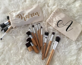 Makeup Brushes & Personalized Bags