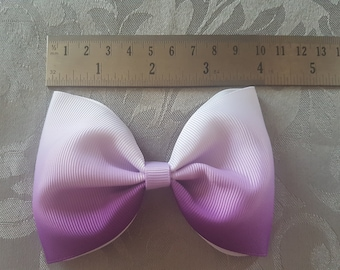 Purple ombre tux bow
