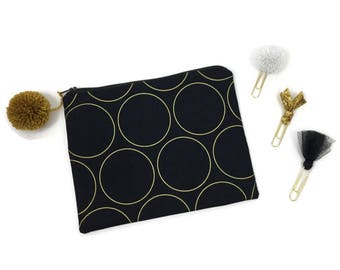 Office Gift Set - Black, white, gold, pom pom - Desk Accessories - The Classic Collection