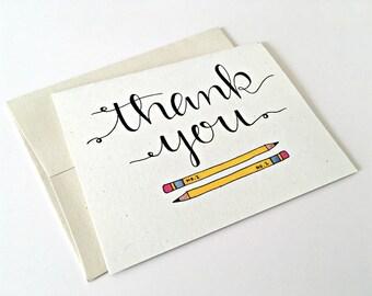 Teacher Thank You Card / Teacher Appreciation Week /Teacher Gift / Teacher Card /