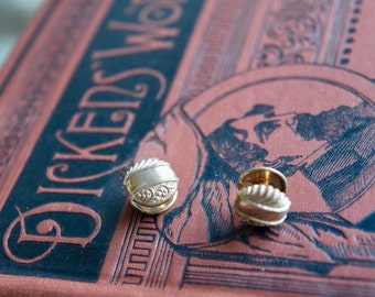 Victorian Gold Fill Monogramable Cuff Links, Antique Domed Customizable Repousse Cufflinks, Gift for Him