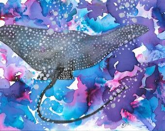 Manta Ray Print
