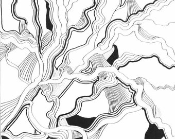 Black and White Abstract No.1 Original Pen and Ink