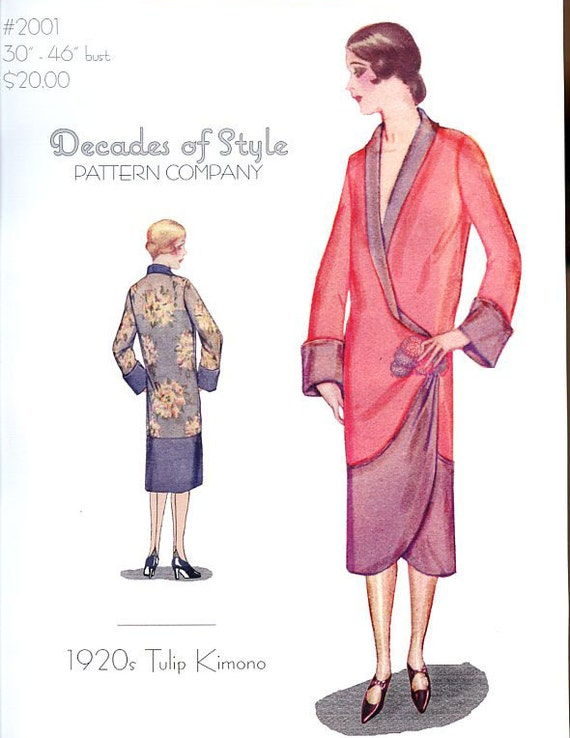 Tulip Kimono 1920 Decades of Style Vintage Style Sewing Pattern from ...