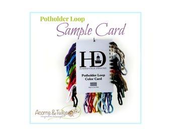 Potholder Loop Sample Card - Harrisville Designs - Cotton Potholder Loops